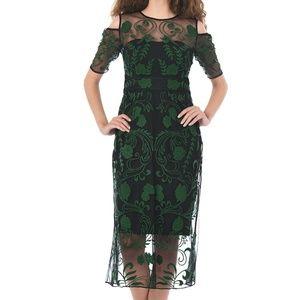 Forest Embroidered Cold Shoulder Dress ❤️